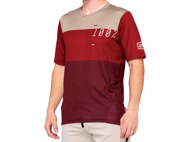 100% Airmatic Enduro/Trail Jersey Men brick/dark red